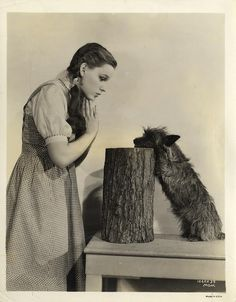 Judy Garland and Toto for Wizard of Oz, 1939