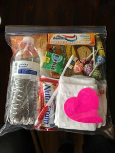 Gifts bags for the homeless