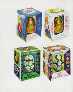 Nestle's vintage photos from the show the evolution of Easter eggs