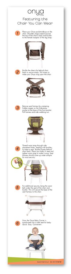 It's super easy to transform your Onya Baby carrier into a portable seat for you baby. Never get stuck without a seat for Baby again!  It's the chair you can wear.