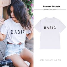 Chanel Shirt, Looking Online, Casual Tops, Shirts For Girls, Funny Shirts, Sleeve Styles, Grunge, Street Style, Fashion Outfits