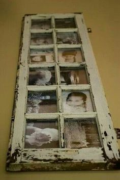 Photo frame from old window