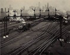 Hoboken Railroad Yards, New Jersey 							 						 					 				 			  			 				 					 						 							 							 							 								Berenice Abbott  1935