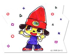 Im sorry everyone (no one really) but i cant ignore this adorable fan art of everyones favourite rapping dog Parappa the rapper.
