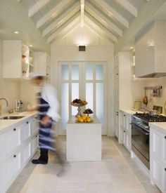 I love galley kitchens.  Efficient, simple, great.