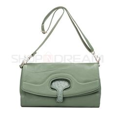 Top Grain Leather Ostrich Pattern Satchels More Colors Available $108.99