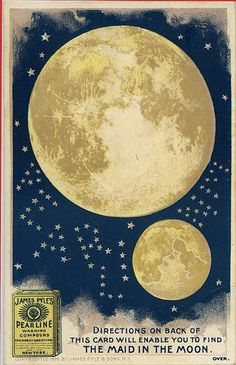 Directions on back of thits card will enable you to find the Maid in the Moon. | Flickr - Photo Sharing!
