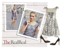 """Holiday Sparkle With The RealReal: Contest Entry"" by kate-rattigan ❤ liked on Polyvore featuring Topshop and Valentino"