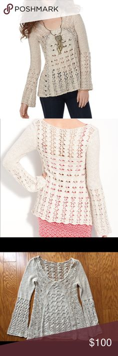 NWOT Free People crochet pullover in oatmeal NWOT Free People crochet pullover in oatmeal ✨ Never worn. In perfect condition.  Buy with confidence! ✔️ Top rated seller ✔️ Fast shipper (1 day) ✔️ Top 10% seller ✔️ Top 10% sharer ✔️ Posh Mentor Free People Sweaters Crew & Scoop Necks