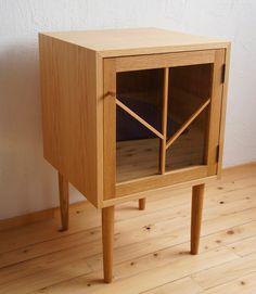 <受注製作>Unité BOX-R TALL(足長)扉付きボックス(右開き)オーク|チェスト・キャビネット|4legs|ハンドメイド通販・販売のCreema