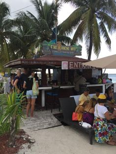 """""""Relaxing on the beach"""" Stopped by for a cold drink while on Junkanoo beach."""