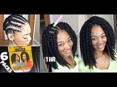 Here's a Havana Mambo Twists alternative! Senegalese Crochet Twists are the perfect protective style for natural hair this winter! The crochet braids look ve. Crochet Braids, Crochet Braid Pattern, Crochet Scarf Easy, Crochet Twist, Braid Patterns, Crochet Hair Styles, Natural Braided Hairstyles, Braided Ponytail Hairstyles, Protective Hairstyles