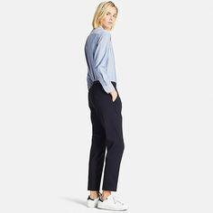 WOMEN SMART STYLE ANKLE LENGTH PANTS, BLACK
