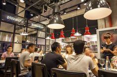 Aydınlatma ve Dekor Dünyasından Gelişmeler: Plasterd8'den Pekin'de PizzaExpress Restaurant