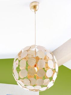This custom chandelier started life as an IKEA Maskros fixture.