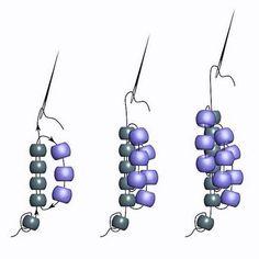 Используя разные цвета бусин, вы не только добьетесь оригинальности конечного изделия, но и не запутаетесь при плетении Beading Projects, Beading Tutorials, Beading Patterns, Beaded Jewelry, Handmade Jewelry, Beaded Bracelets, Rope Chain, Loom Beading, Bead Weaving