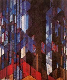 Frantisek Kupka >> La cathédrale  |  (, reproduction, copie, tableau, oeuvre, peinture).