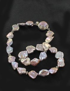 BEAUTIFUL PINK PEACH KEISHI PEARL NECKLACE STERLING from New World Gems