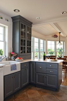 Kitchen on pinterest butler pantry galley kitchens and for Cape cod style kitchen cabinets