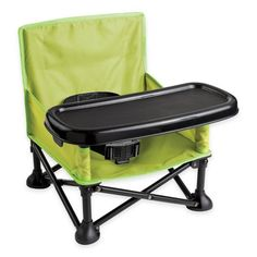 Summer Infant® Pop & Sit Portable Booster Seat in Green.- Summer Infant® Pop & Sit Portable Booster Seat in Green/Grey Baby Baby, Portable High Chairs, Camping With A Baby, Family Camping, Baby Chair, Toddler Chair, Toddler Travel, Toddler Camping, Baby Travel