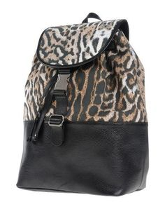 JUST CAVALLI Backpack & fanny pack. #justcavalli #bags #leather #backpacks #cotton #