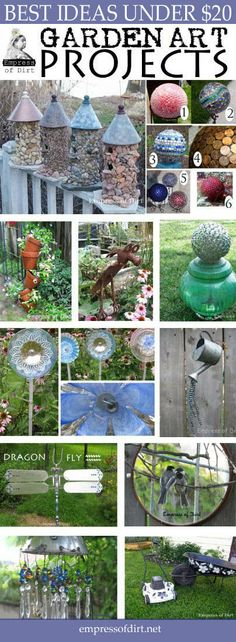 Best garden art projects under $20 - free instructions