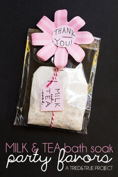 Milk and Tea Bath Soak Party Favors - Plus a We R Memory Keepers $100 Giveaway1