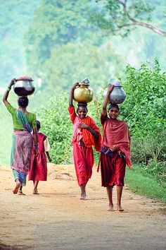 Girls going to market, Rayagada, India