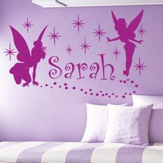 Personalized Name and Fairies Vinyl Wall Decals by SunshineGraphix, $16.99