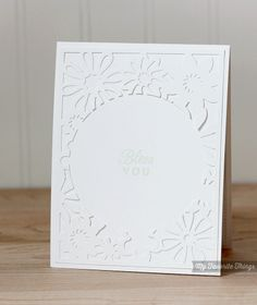 Matching inside of the card using leftover piece of die: For the Love of Paper