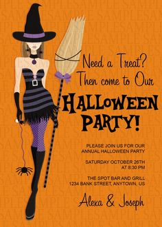 Costume Adult Birthday Party Invitation 11