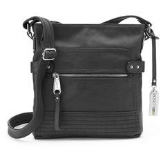 Rosetti Halifax Crossbody Bag, Women's, Black (69 AUD) ❤ liked on Polyvore featuring bags, handbags, shoulder bags, black, handbags crossbody, man bag, cross body strap purse, purse crossbody and crossbody purse