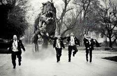 Probablemente la foto de bodas más original.