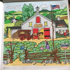 Adult Coloring Book Charles Wysocki Americana By Mead Academie Stress Relief Sketching Color Books Great For Fans Barb H