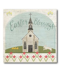 Look at this #zulilyfind! 'Easter Blessings' Wrapped Canvas #zulilyfinds