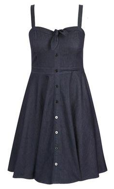 0fde4d2b259 Shop Women s Plus Size Women s Plus Size Sweet Denim Fit   Flare Dress