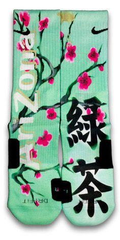 I'm real tired of the Nike Elite custom thing, but... these are so awesome.   Arizona Green Tea Nike Custom Elite Socks