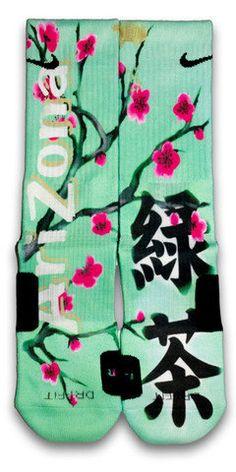 Arizona Green Tea Nike Custom Elite Socks