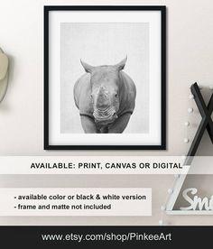 Baby Rhino nursery decor, African baby shower, Rhino print, Safari animals kids decor, Rhino Animal nursery art, Baby animal Print/Canvas/Digital