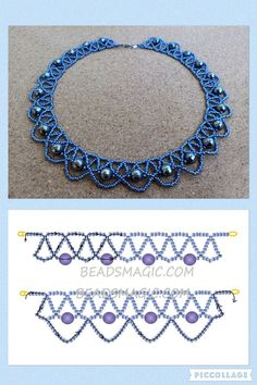 Best Seed Bead Jewelry 2017 Free pattern for beaded necklace Galaxy Chain 🎀 (with instructions) · ☆ · · ☆ · — ℑ🎀 - Erica L. Beaded Necklace Patterns, Seed Bead Patterns, Beading Patterns, Beaded Necklaces, Diy Necklace, Necklace Ideas, Beading Tutorials, Necklace Designs, Bead Jewellery