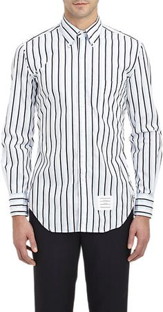 Thom Browne Stripe Poplin Shirt