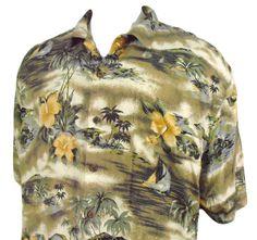 Hilo Hattie Mens 100% Silk Hawaiian Shirt Size 2XL XXL Floral Button Front