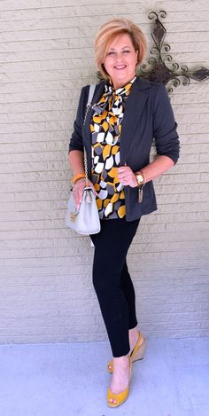 50 Is Not Old | Dreams | Gray & Yellow | Work Appropriate | Fashions over 40 for the everyday day woman