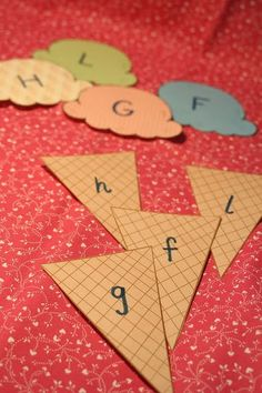 Teach how to match upper and lower case letters using cute ice cream cones! This should be helpful getting my four year old ready for kindergarten! Preschool Literacy, Educational Activities, Preschool Activities, Teaching Abcs, Early Literacy, Teaching Resources, Teaching The Alphabet, Learning Letters, Infant Activities