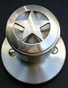 Pewter Finish Star Knob
