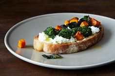 Roasted Broccoli Rabe, Sweet Potato & Ricotta Crostini on Food52: http://f52.co/1p3sQZZ. #Food52