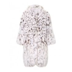 """fur coat """"predator"""" ($1,000) ❤ liked on Polyvore featuring outerwear, coats, white fur coat, fur coat and white coat"""