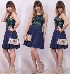 Luta do Dia: criando um look retro com saia rodada - o passo a passo do look do dia antiguinho.