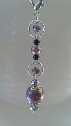 Basset Hound Sparkly Crystal Suncatcher Car Rear View Mirror or Handbag Charms