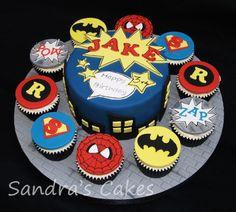 superhero cakes | Superhero cake cupcakes